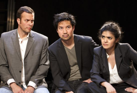 Kevin Shen as DHH in YELLOW FACE by David Henry Hwang, Park Theatre and National Theatre. Photo by Simon Annand.